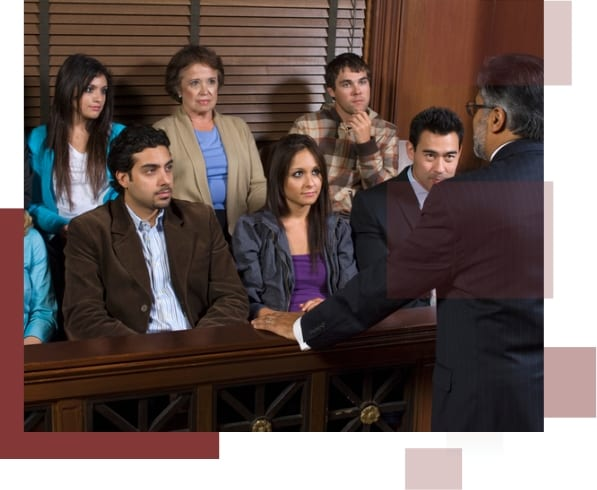 An attorney addressing a jury