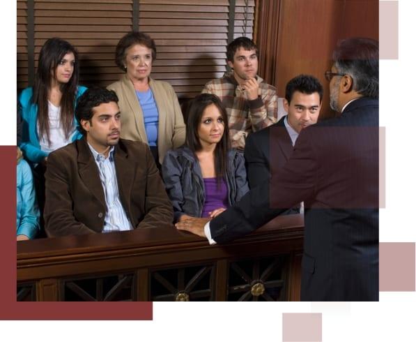 An attorney addressing a jury