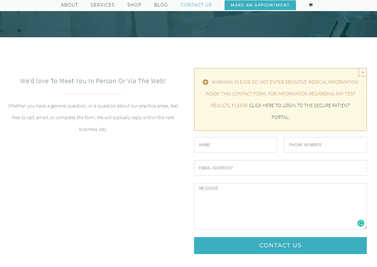 common website mistakes example of a good form