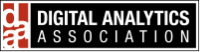 The black and red logo for the Digital Analytics Association