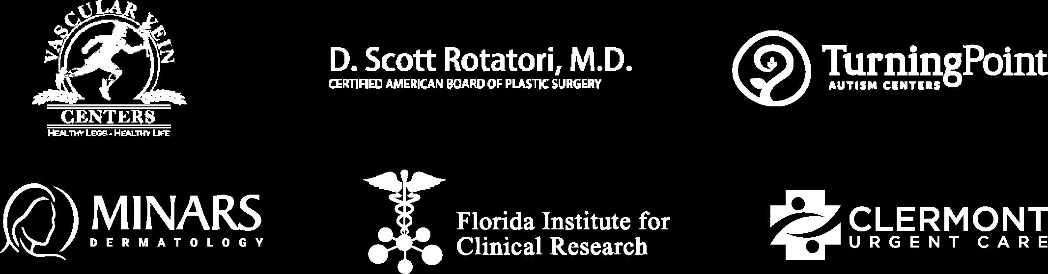 Logos Of ROAR! Medical Clients
