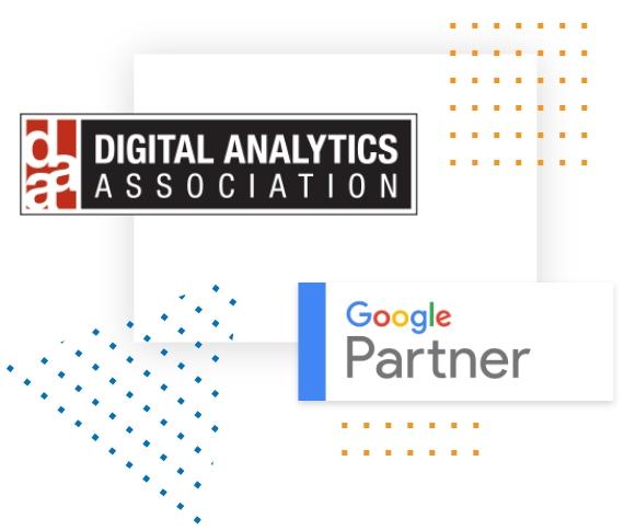 Digital Analytics Association Member and Google Partner Badge