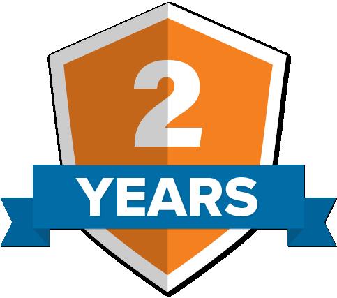 Badge denoting 2 years working at ROAR!